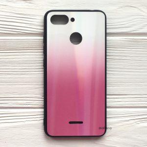 TPU+Glass чехол Gradient Aurora с градиентом для Xiaomi Redmi 6 / Redmi 6A (White/Pink)
