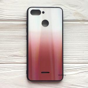 TPU+Glass чехол Gradient Aurora с градиентом для Xiaomi Redmi 6 (White/Red)
