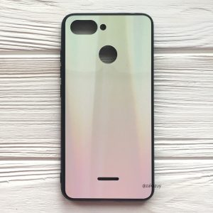 TPU+Glass чехол Gradient Aurora с градиентом для Xiaomi Redmi 6 (Yellow/Pink)
