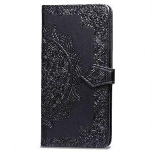 Кожаный чехол-книжка Art Case с визитницей для Xiaomi Redmi 7A (Черный)
