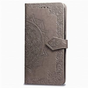 Кожаный чехол-книжка Art Case с визитницей для Xiaomi Redmi Note 6 Pro (Серый)