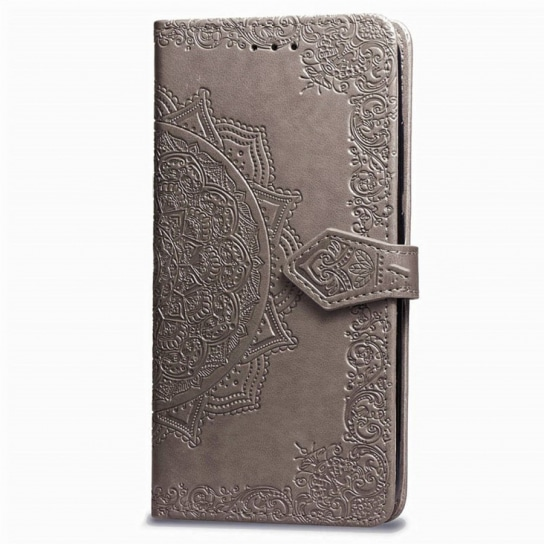 Серый кожаный чехол-книжка Art Case с визитницей для Xiaomi Redmi 6A (Grey)