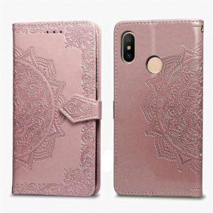 Розовый кожаный чехол-книжка Art Case с визитницей для Xiaomi Mi A2 Lite / Xiaomi Redmi 6 Pro (Pink)