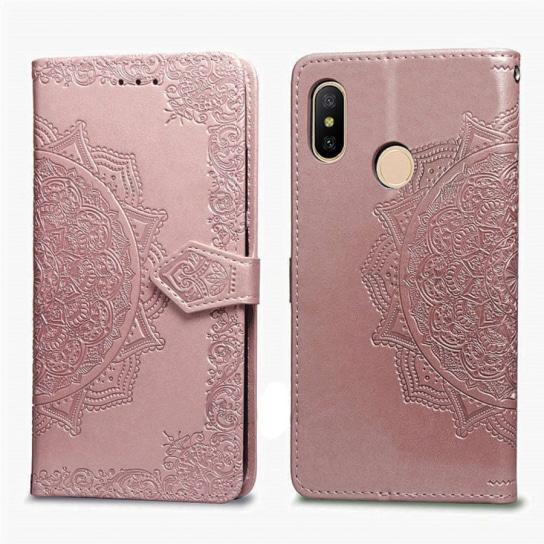 Розовый кожаный чехол-книжка Art Case с визитницей для Xiaomi Redmi Note 6 Pro (Pink)