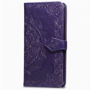 Кожаный чехол-книжка Art Case с визитницей для Xiaomi Redmi 7A (Фиолетовый)