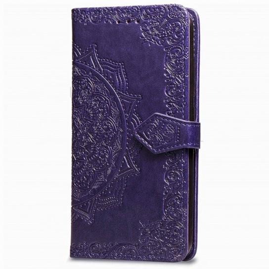 Фиолетовый кожаный чехол-книжка Art Case с визитницей для Xiaomi Redmi Note 5 / 5 Pro (Violet)