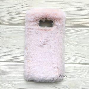 """Светло-розовый силиконовый чехол (накладка) """"Пушистик"""" с мехом и стразами для Samsung G950 Galaxy S8 (Light Pink)"""