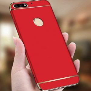 Матовый пластиковый чехол Joint Series  для Huawei Y6 Prime 2018 / Honor 7A Pro / Honor 7C (Red)