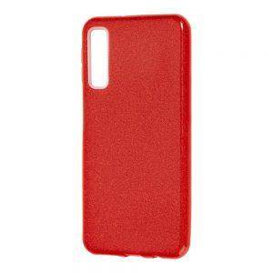 Силиконовый (TPU+PC) чехол Shine с блестками для Samsung A750 Galaxy A7 2018 (Красный)