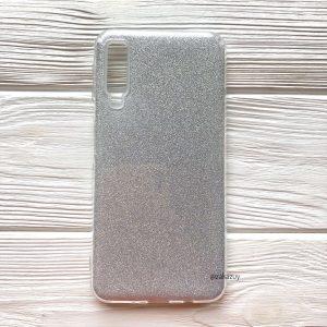 Cиликоновый (TPU+PC) чехол Shine с блестками для Samsung Galaxy A70 2019 (A705) – Серебряный