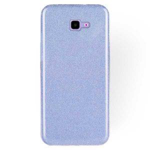 Силиконовый (TPU+PC) чехол Shine с блестками для Samsung J415 Galaxy J4 Plus 2018 (Голубой)
