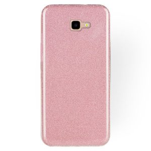 Силиконовый (TPU+PC) чехол Shine с блестками для Samsung J415 Galaxy J4 Plus 2018 (Розовый)