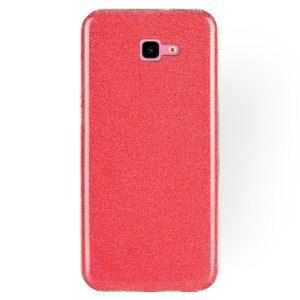 Силиконовый (TPU+PC) чехол Shine с блестками для Samsung J415 Galaxy J4 Plus 2018 (Красный)