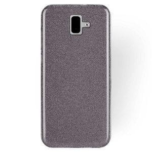 Силиконовый (TPU+PC) чехол Shine с блестками для Samsung J610 Galaxy J6 Plus 2018 (Черный)