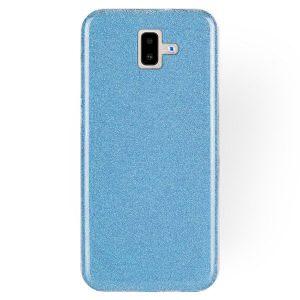 Голубой силиконовый (TPU+PC) чехол (накладка) Shine с блестками для Samsung J610 Galaxy J6 Plus (Blue)