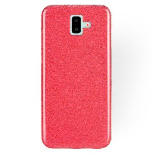 Силиконовый (TPU+PC) чехол Shine с блестками для Samsung J610 Galaxy J6 Plus 2018 (Красный)