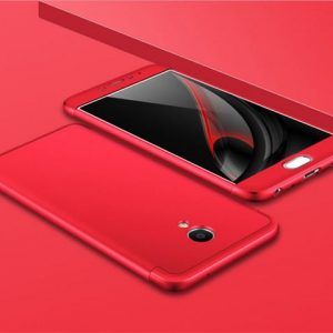 Красный матовый пластиковый чехол (бампер) GKK 360 градусов для Meizu M5 Note (Red)