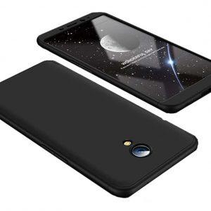 Матовый пластиковый чехол GKK 360 градусов для Meizu M6s (Черный)
