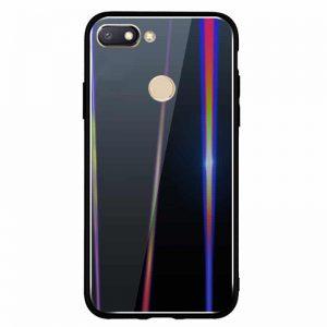 TPU+Glass чехол Gradient Aurora с градиентом для Xiaomi Mi 8 Lite / Mi 8 Youth Mi 8X (Black)