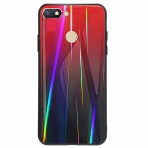 TPU+Glass чехол Gradient Aurora с градиентом для Xiaomi Mi 8 Lite / Mi 8 Youth Mi 8X (Red)