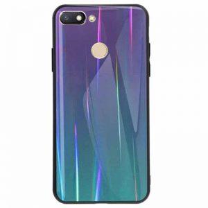 TPU+Glass чехол Gradient Aurora с градиентом для Xiaomi Mi 8 Lite / Mi 8 Youth Mi 8X (Violet)