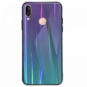 Фиолетовый чехол (накладка) TPU+Glass с градиентом Gradient Aurora для Huawei Nova 4 (Violet)