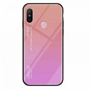 Pозовый чехол (накладка) с градиентом Gradient Hello для Xiaomi Redmi Note 7 (Pink)