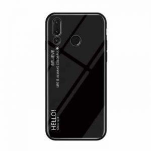 Черный чехол (накладка) TPU+Glass с градиентом Gradient Hello для Huawei Nova 4 (Black)