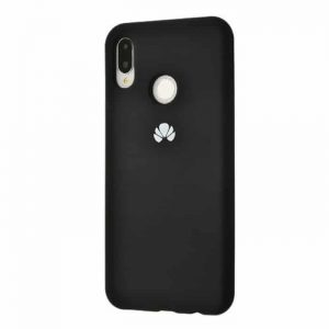 Оригинальный чехол Silicone Cover 360 с микрофиброй для Huawei P Smart Plus / Nova 3i (Black)