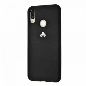 Оригинальный чехол Silicone Cover 360 с микрофиброй для Huawei P Smart Plus / Nova 3i (Black)