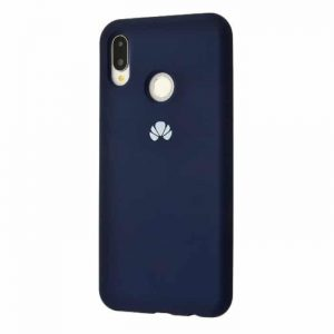 Оригинальный чехол Silicone Cover 360 с микрофиброй для Huawei P Smart Plus / Nova 3i (Midnight Blue)