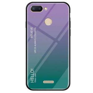 Фиолетово-зеленый чехол (накладка) с градиентом Gradient Hello для Xiaomi Redmi 6 (Violet / Green)
