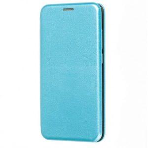 Кожаный чехол-книжка 360 с визитницей для Samsung Galaxy A10 2019 (A105) – Голубой