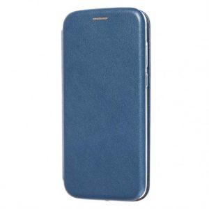 Синий кожаный чехол-книжка (экокожа+TPU) для Xiaomi Redmi 6A (Dark Blue)