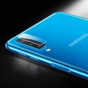 Защитное стекло на камеру для Samsung A750 Galaxy A7 2018 (Прозрачное)