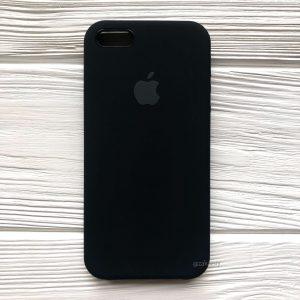 Оригинальный силиконовый чехол (Silicone case) для Iphone 5 / 5s / SE (Black) №7