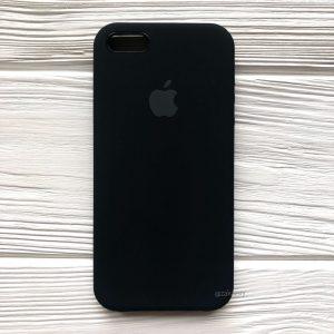 Оригинальный чехол Silicone Case с микрофиброй для Iphone 5 / 5s / 5c / SE №7 (Black)