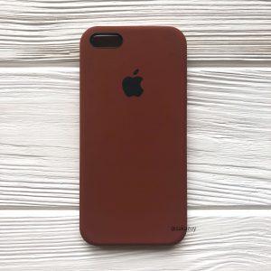 Оригинальный силиконовый чехол (Silicone case) для Iphone 5 / 5s / SE (Brown) №30