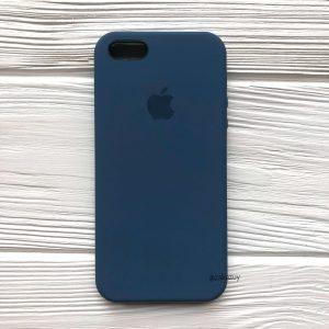 Оригинальный силиконовый чехол (Silicone case) для Iphone 5 / 5s / SE (Dark Blue) №22
