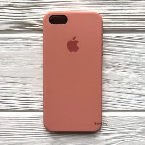 Оригинальный чехол Silicone Case с микрофиброй для Iphone 5 / 5s / 5c / SE №25 (Flamingo)
