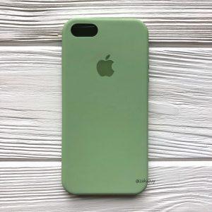 Оригинальный силиконовый чехол (Silicone case) для Iphone 5 / 5s / SE (Light Green) №10