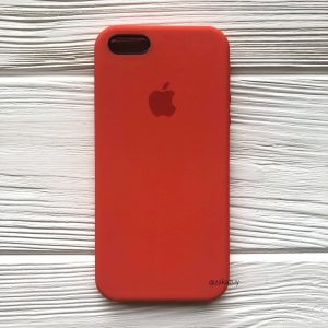 Оригинальный чехол Silicone Case с микрофиброй для Iphone 5 / 5s / 5c / SE  №18 (Orange)