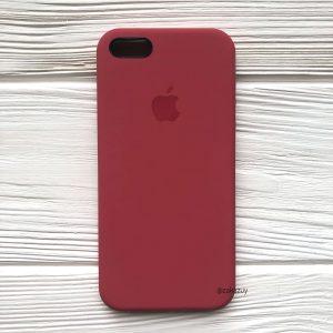 Оригинальный силиконовый чехол (Silicone case) для Iphone 5 / 5s / SE (Rouge) №24