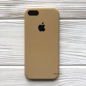 Оригинальный силиконовый чехол (Silicone case) для Iphone 5 / 5s / SE (Sand) №29