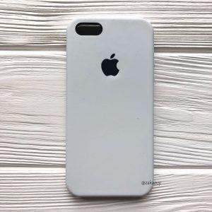 Оригинальный силиконовый чехол (Silicone case) для Iphone 5 / 5s / SE (White) №6