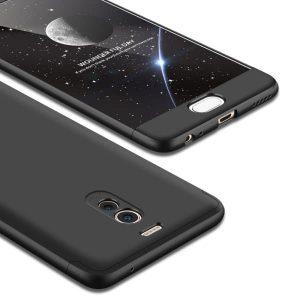 Черный матовый пластиковый чехол (бампер) GKK 360 градусов для Meizu M6 Note (Black)