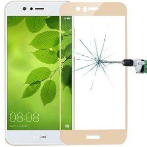 Защитное стекло 2.5D (3D) Full Cover на весь экран для Huawei Nova 2 Plus – Gold