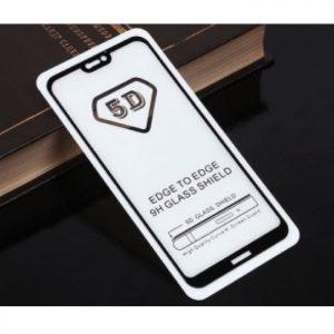 Защитное стекло 5D Full Glue (на весь экран) для Huawei P20 Lite (Черное / Black)