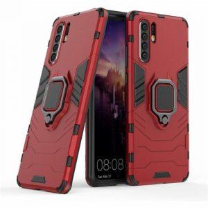 Ударопрочный чехол Transformer Ring под магнитный держатель для Huawei P30 Pro (Red)
