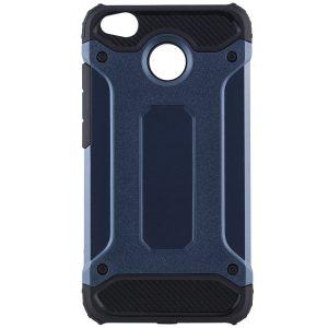 Темно-синий противоударный (ударопрочный) бронированный чехол (бампер) Spigen для Xiaomi Redmi 4x (Navy Blue)